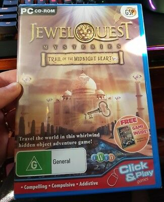 Jewel Quest Mysteries - Trail of The Midnight Heart NEW -  PC GAME - FREE POST *