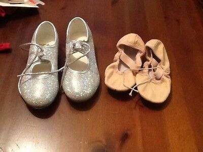 Girls Tap And Ballet Shoes Size 10