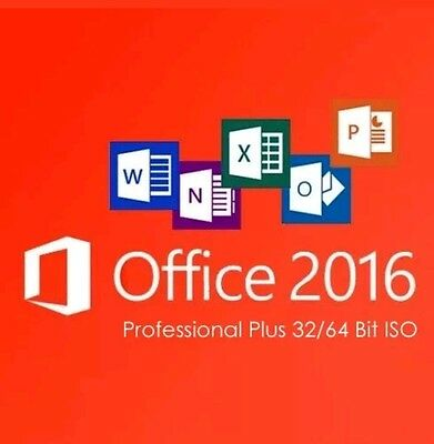 Office Professional Plus 2016- W/scrap, Genuine & Lifetime Key