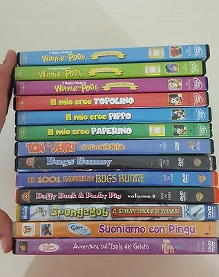 Lotto 13 Dvd Bambini Cartoni Animati Looney Tunes Spongebob Disney Winnie Pooh