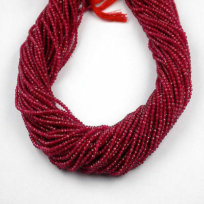 "5 Strand Red Aventurine Rondelle 2.10mm Micro Faceted Gemstone Beads 13"" Long"
