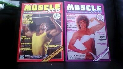 2x vintage Muscle&Co bodybuilding magazines Feb & March 1986 Good condition
