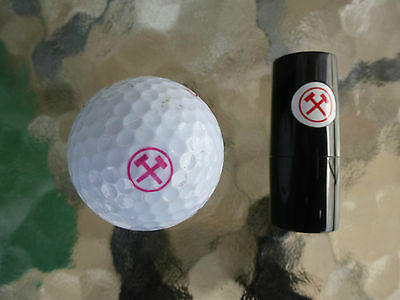 Golf Ball Stamp Crossed Hammers
