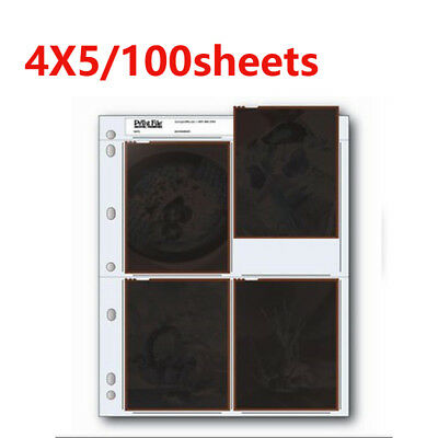 Archival Storage Holder Print File 45-4B 100 Shts for 4 x 5 Inch Film Photo Page