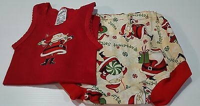 Christmas Baby Singlet and Nappy Cover Set - Size 1