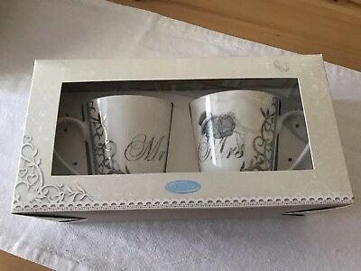 Me To You Bears Mr & Mrs Wedding Present Gift Cups Mugs Matching