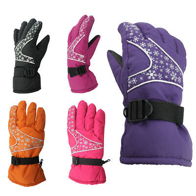 1 Pair Winter Warm Gloves Waterproof Breathable Skiing Skating Outdoor Sports