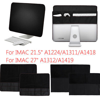 21.5'' 27'' PU Leather Protect Screen Dustproof Sleeve Cover for IMAC for Apple