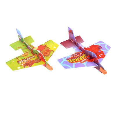2xBird Foam Kids Hands Throwing Flying Aircraft Airplane Gliders Models Toys DIY