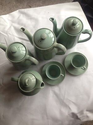 Woods Ware Beryl, 4x Coffee Pots, 2x Coffee Cup and Saucers