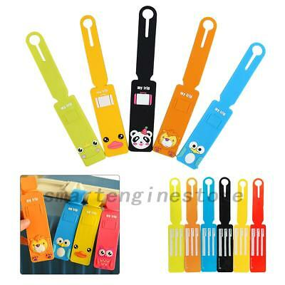 6pcs Silicone Travel Luggage Tags Baggage Suitcase Bag Labels Name Address New