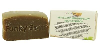 1 piece Nettle and Marshmallow Root Shampoo Bar, 65g, 100% Natural Handmade