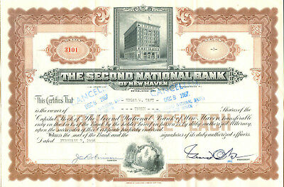 The Second National Bank of New Haven 1958