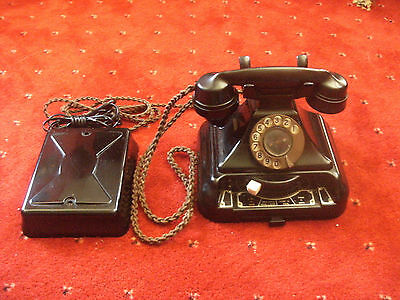 Bakelite telephone tele 248 working with bellset. collectable