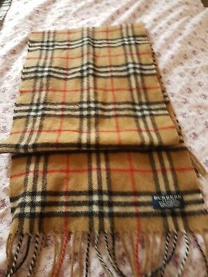 vintage burberry scarf 100% lambswool