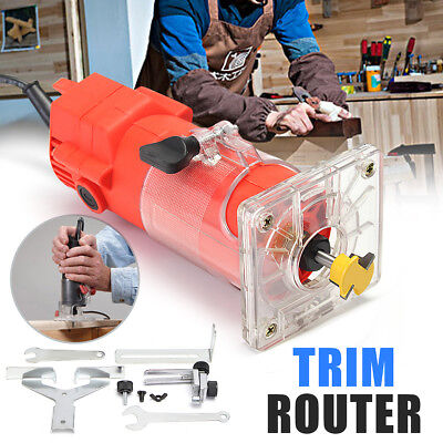 220V Electric Router Woodworking Trimming Edge Molding Clean Cut Power Tool Set
