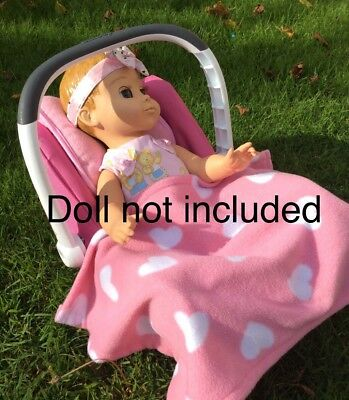 smoby maxi-cosi doll car seat with blanket and cushion - perfect for Luvabella
