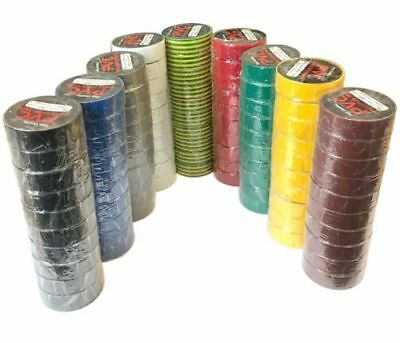 Electrical PVC TAPE Insulation Insulating 19mm x 33m Choice of Colour COLOURED