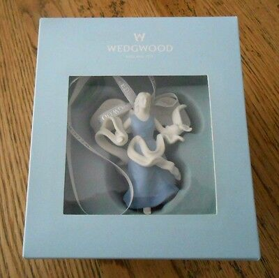 NEW Wedgwood Pale Blue & White Hanging Figural Angel - Decoration / Ornament