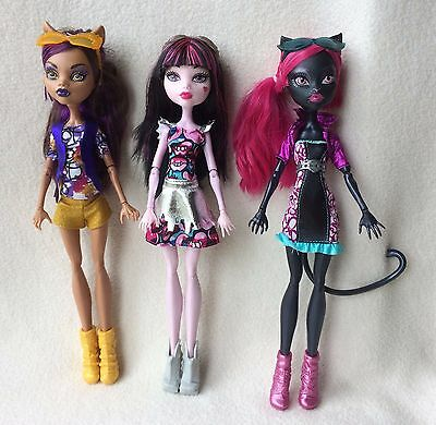 Monster High Boo York Boo York 3 Pack Catty Noir, Draculaura and Clawdeen Wolf
