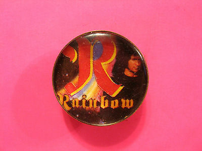 Rainbow Vintage Pin Badge Uk Import Button Ronnie James Black Sabbath Not Patch