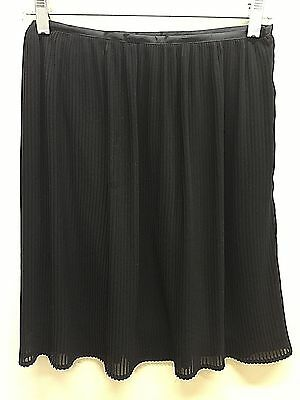 "Vtg XL XXL skirt 26"" waist dressy Chiffon Talbots black knife pleats"