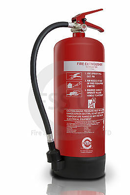 (R) 9 Litre Water Fire Extinguisher Home Office Workplace. British Kitemarked