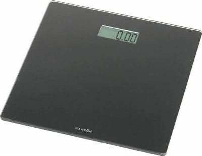Black Ultra Slim Modern Electronic Digital Glass Bathroom Scale Hanson HX6000