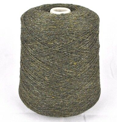 Fine Quality 2 Ply Knitting Machine Cone Yarn Wool Lambswool ~ 500g Dark Green