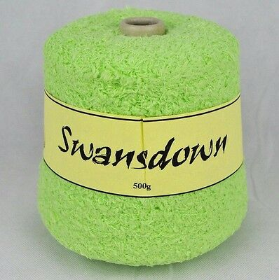 Swansdown Chunky IND 20 Knitting Machine Cone Yarn Wool ~500g Light Pastel Green