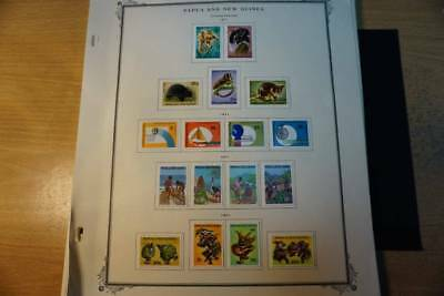 Papua & New Guinea MM collection on 44 pages many photos (K010)