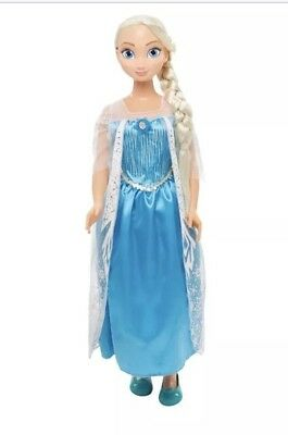 """Princess Elsa Life Size Doll 38"""" Tall Frozen My Size Huge 3 ft Target Exclusive"""
