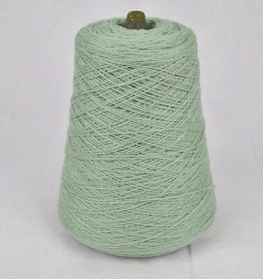 Fine Quality 3 Ply Pure Knitting Machine Cone Wool Yarn ~ 400g Mint Green