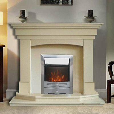 Modern Electric Stainless Steel LED Flame Fire Place Heater Freestanding 240v UK