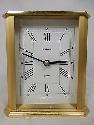 Schöne TIFFANY & CO Quartz Messing Tischuhr table clock Made in Germany working