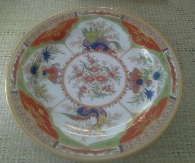 Antique Chinese Enamel Painted Porcelain Dragon Plate Very Pretty