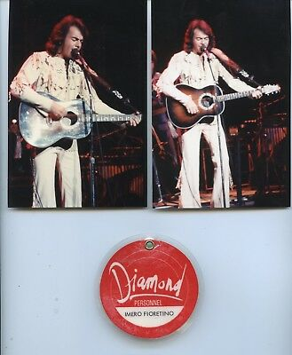 Neil Diamond '70's Early Tour-Personnel Pass+2 On Stage Photos
