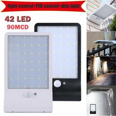 42 LED Solar Power Motion Sensor Garden Security Lamp Outdoor Waterproof Light E