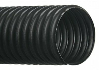 """Hi-Tech Duravent RFH Series Thermoplastic Rubber Duct Hose, Black, 9"""" ID, 25'"""