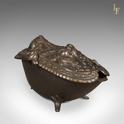 Period Art Nouveau Coal Scuttle, Antique Victorian Fireside Bin, c.1900