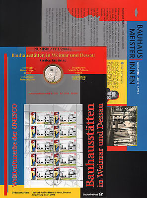 Numisblatt Germany 1/2004 BAUHAUS SITES with Silver coin