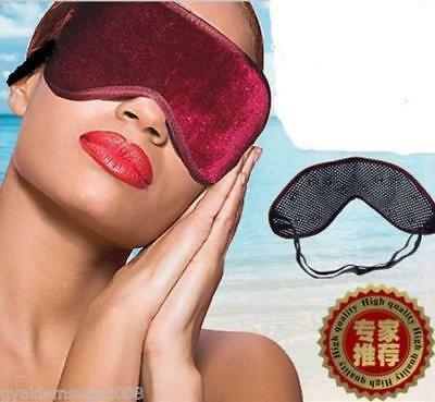 3D Tourmaline Eye Mask Soft Velvet Luxury Travel Sleeping Blindfold Sleep Aid UK