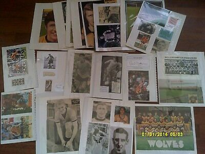 x44 - HUGE Wolves 60s 70s 80s 90s Signed Photo & Picture Collection / Job Lot