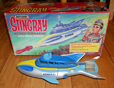 Stingray Matchbox Action Submarine Vintage 1993 Gerry Anderson Rare & Boxed #889