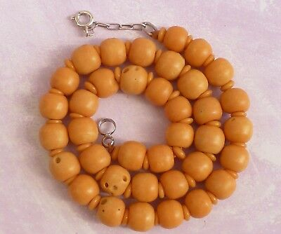 A Vintage Salmon Coloured Coral ? Bead Necklace