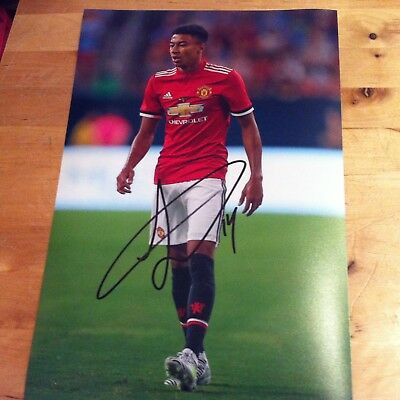 MANCHESTER UNITED SIGNED JESSE LINGARD 12x8 photo 2017-2018