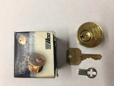 LCO 7161TK1-03 Brass Mortise Cylinder New In Box