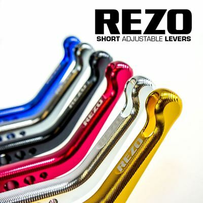 REZO V2 Short Green Adjustable CNC Motorcycle Levers for BMW S 1000 R 2014