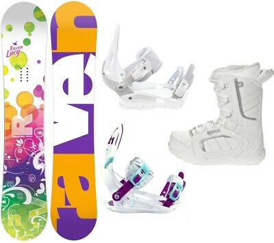Snowboard Raven Lucy Junior + Raven oder SP Bindung + Boots Raven Target / Pearl