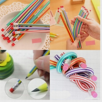 Fashion 5Pcs/Lot Student Flexible Soft Pencil Magic Bendy Stationery Eraser